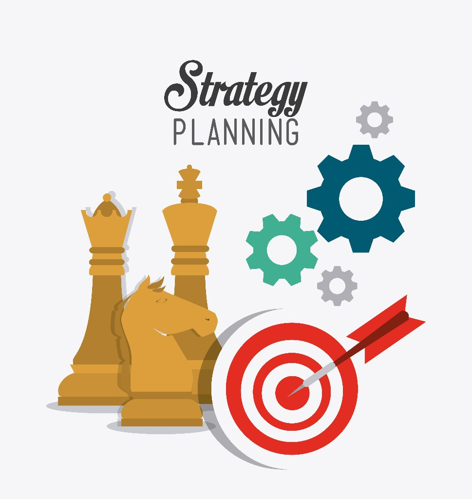 Business strategy design, vector illustration eps 10.