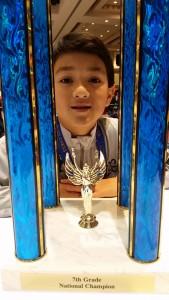 Vincent Baker 7th grade National Champion